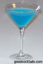 Blue Devil Cocktail Drink