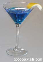 Good Cocktails Blue Moon Cocktail Mixed Drink Recipe