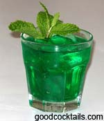 Green shots drinks for Green alcoholic drinks recipes