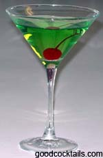 Sour Apple Martini Drink